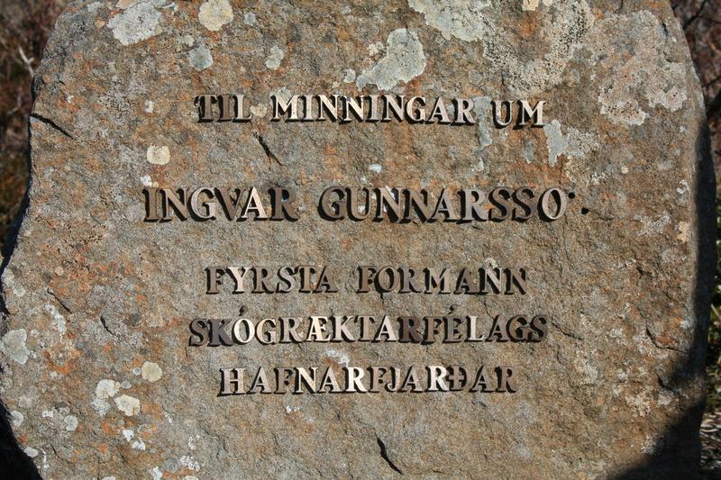 Minnisvarði um Ingvar Gunnarsson í Litla-Skógarhvammi