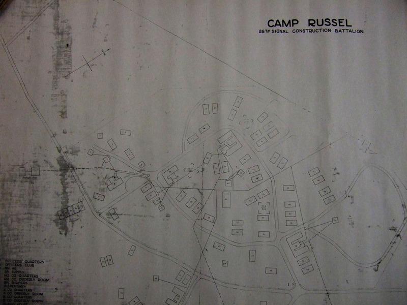 Uppdráttur af Camp Russel á Urriðakotsholti