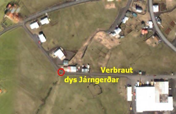 Dys Járngerðar í Verbraut (rauður hringur)