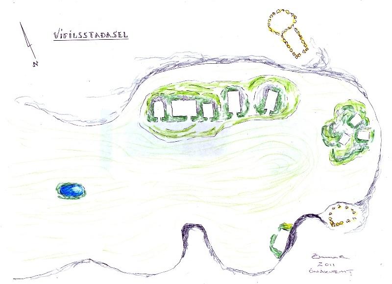 Vifilsstadasel - uppdrattur III