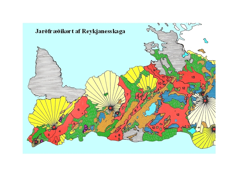 Reykjanes Peninsula Geological Map